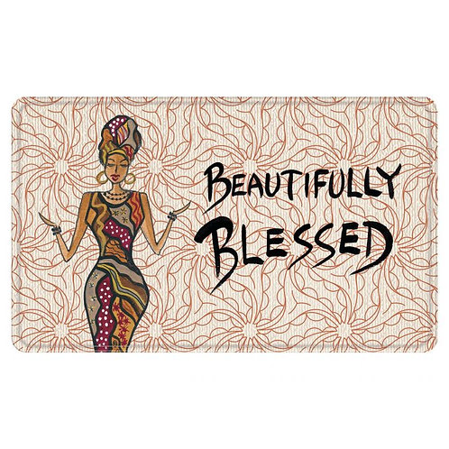 Beautifully Blessed Floor Mat