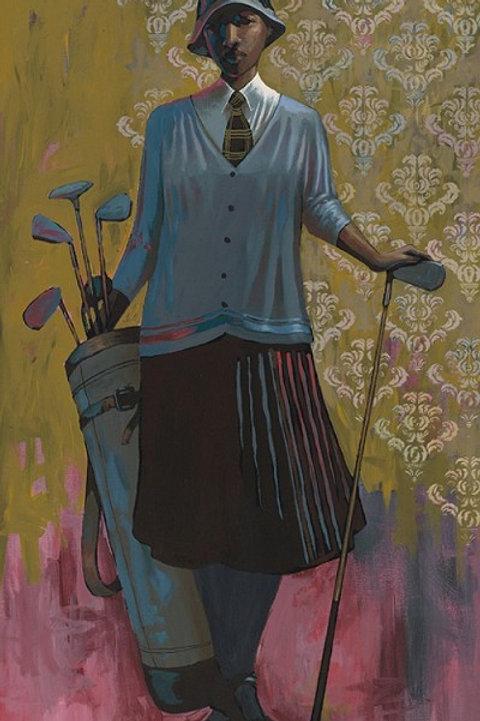 "Vintage Golfer   Female  -  Medium  24""   x   28"""