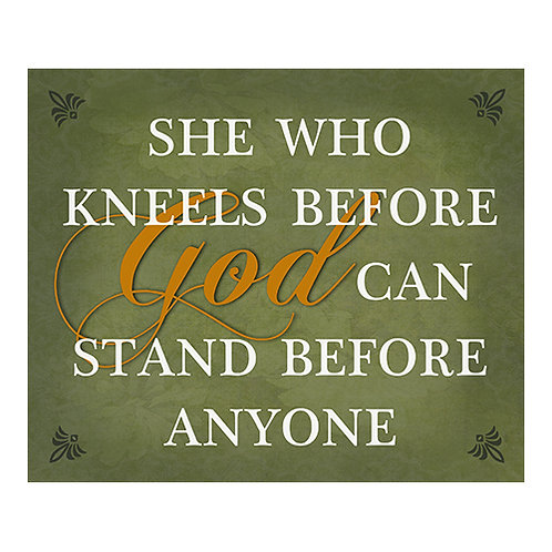 She who Kneels before God - Wall Plaque
