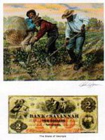 Slaves Hoeing Cotton :  Georgia