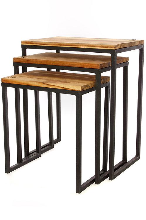 Set of Three Ghanaian Nesting Tables