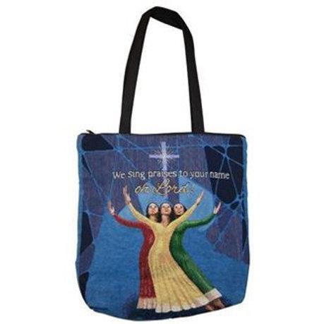 We Sing Praises Woven Tote Bag