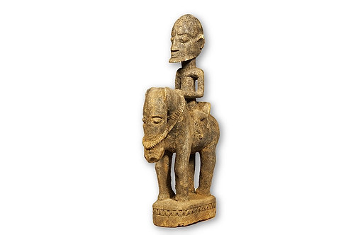 Dogon African Horse Rider Statue