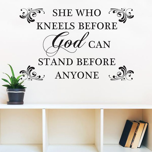 She Who Kneels Wall Art Decal