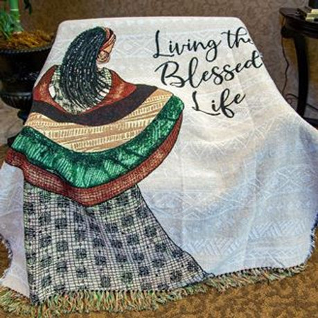 Blessed Life Tapestry Throw