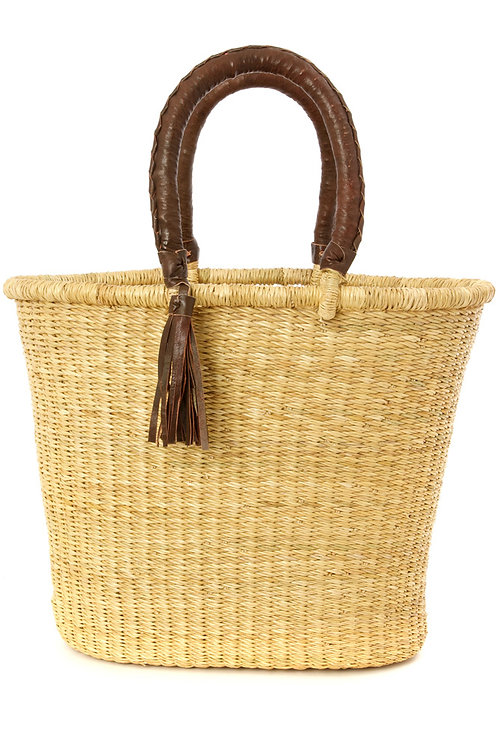 Nomad Shopper with Leather Handles & Tassel