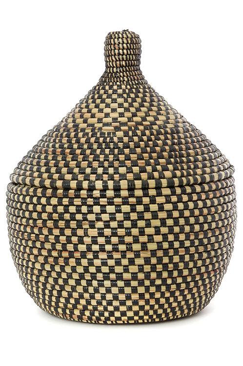 Black Checkerboard Warming Basket