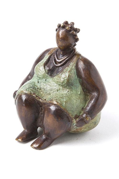 Bronze Plump Mamas with Green Dress