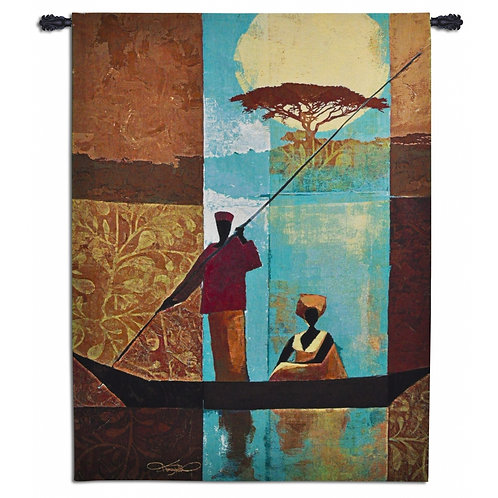 On The River I Tapestry Wall Art