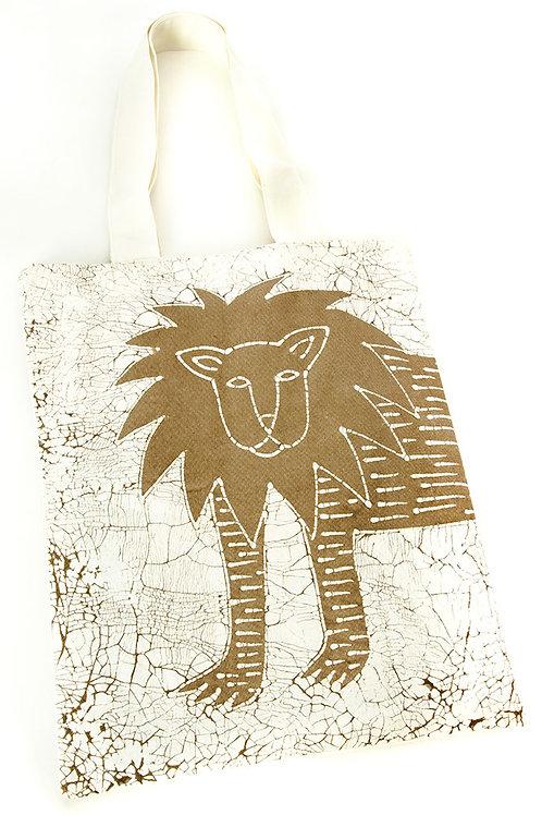 Dry Season Lion Tote Bag
