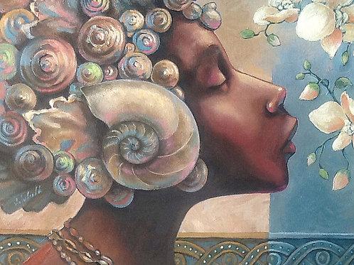 Ebony Goddesses On Canvas - A