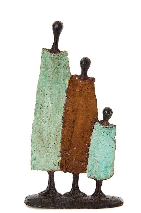 Burkina Bronze Nomad Family of 3