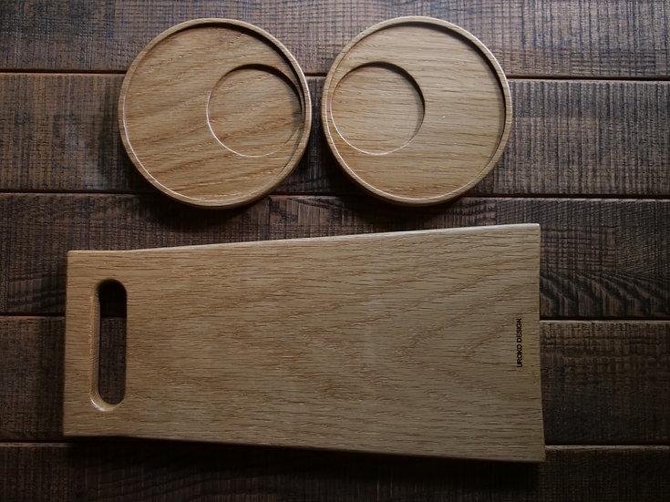 カッティングボード【fin】+プレート付きギフトSET