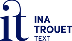 Logo Ina Trouet Text
