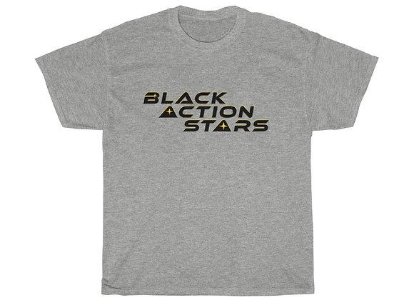 Black Action Stars T- Shirt