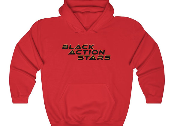 Black Action Stars Hoodie (Black Text)