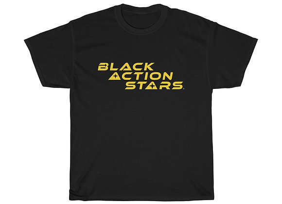 Black Action Stars (Gold Logo)
