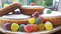 Colourful Empire Biscuits with Jelly Sweets