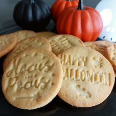 Lemon and Almond Halloween Biscuits
