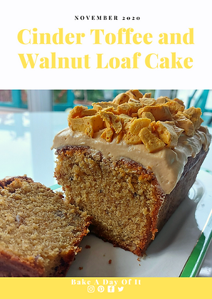 Cinder Toffee and Walnut Loaf Cake Cover
