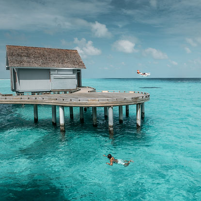 The Wanderlovers Maldives kuramathi resort private island luxury overwater villa inocean villa seaplane transfer snorkel