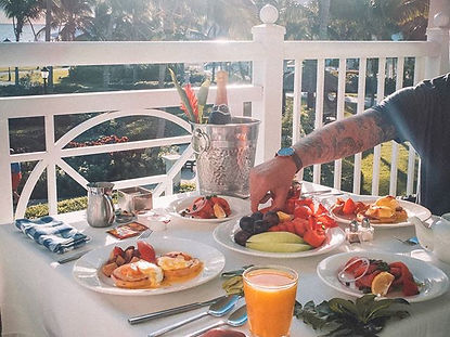 The wanderlovers bahamas sandals emerald bay exumas balcony breakfast view butler service