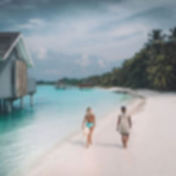 The Wanderlovers Kuramathi Resort drone shot sandbar luxury private island inocean water villa