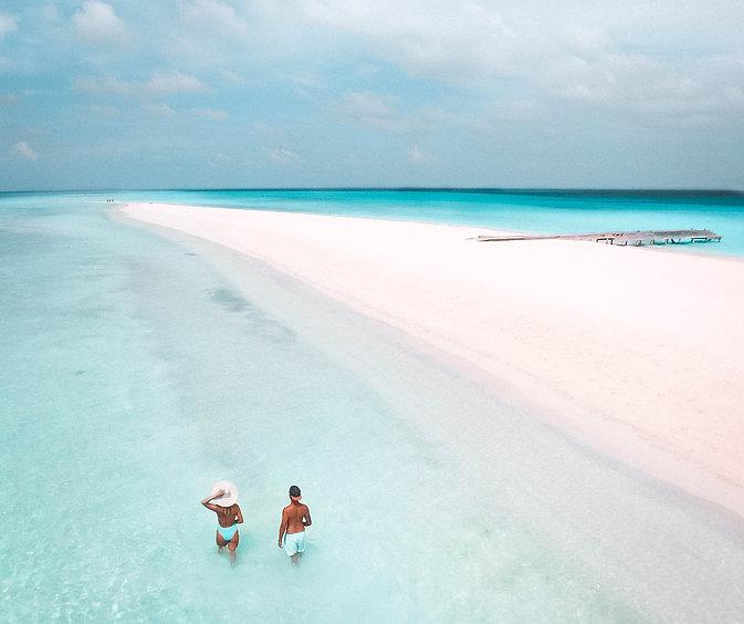 The Wanderlovers Maldives Kuramathi Resort Drone Sandbar