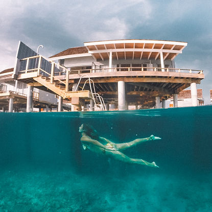 The Wanderlovers Maldives kuramathi resort overwater villa underwater dive private island luxury