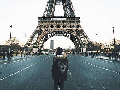 The wanderlovers paris road to eiffel tower drop dead clothing hooded jacket