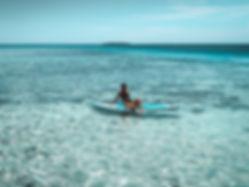 The wanderlovers bahamas sandals emerald bay exumas paddleboard watersport hire