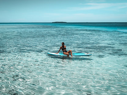 The wanderlovers bahamas sandals emerald bay exumas paddleboard watersport hire
