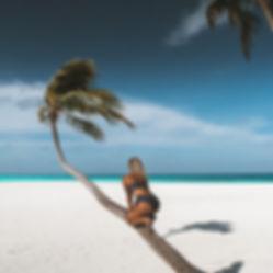 The Wanderlovers Maldives angsana velavaru resort island luxury overwater palm tree restaurant beach ocean