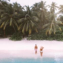 The Wanderlovers Kuramathi Resort drone shot sandbar luxury private island inocean water villa snorkel scuba excusion