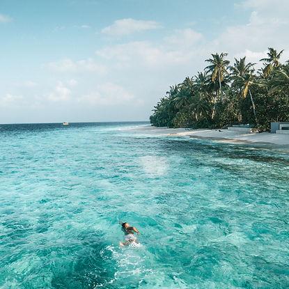The Wanderlovers Maldives park hyatt hadahaa drone shot aerial view private island resort