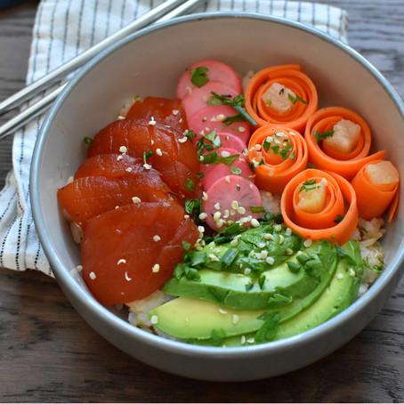 7# Poke Bowl with tomato tuna