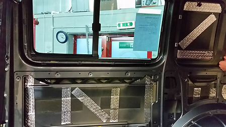 sound deadening applied to van