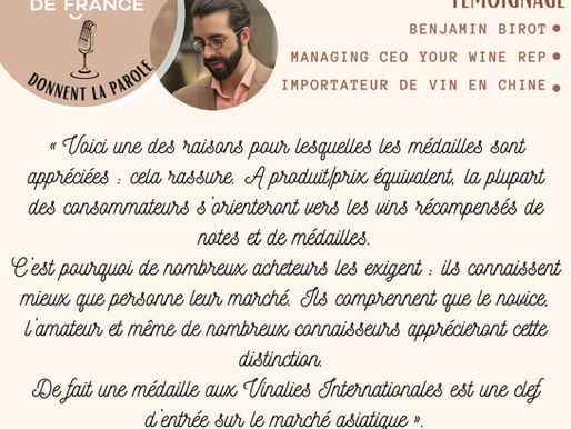 """ITW of Benjamin with """"Oenologues de France"""""""