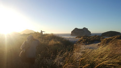 Wharariki Beach down South