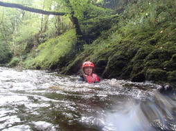 Gorge Walking in the Sawdde River