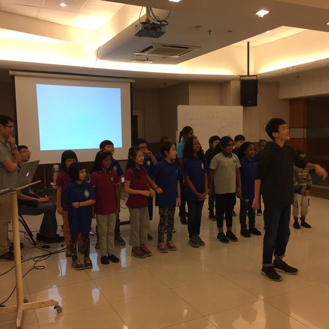 Public speaking performance rehearsal