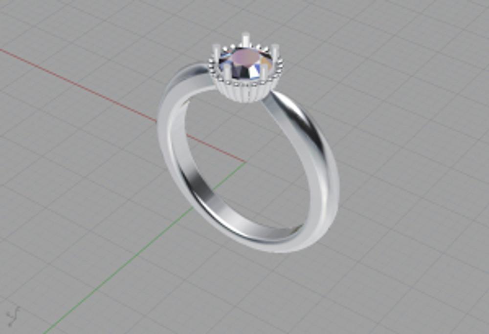 PETHICA 婚約指輪デザイン画1