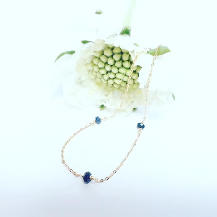9月の贈りもの♡<K18 Birth stone Bracelet -Sapphire>