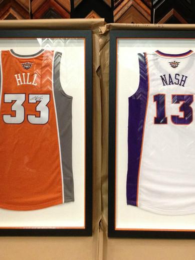 Two Framed Jerseys