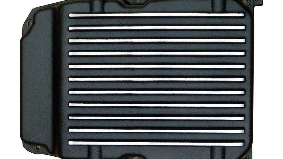 Extra Capacity, Black Powder Coated, Aluminum Finned Transmission Pan