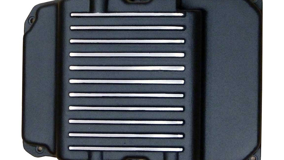 NCV3 Extra Capacity, Black Powder Coated, Aluminum Finned Transmission Pan