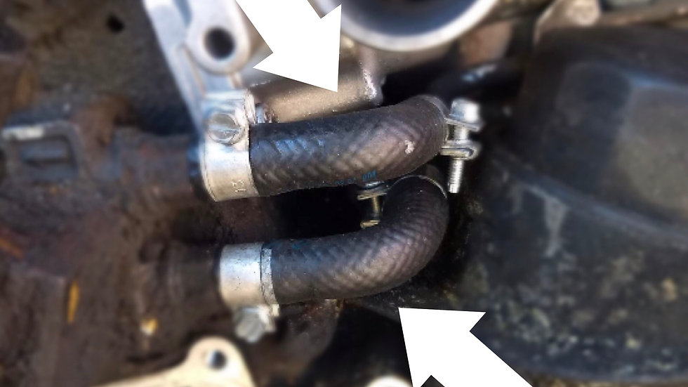 Rubber Elbow Hoses to Fuel Pump Kit