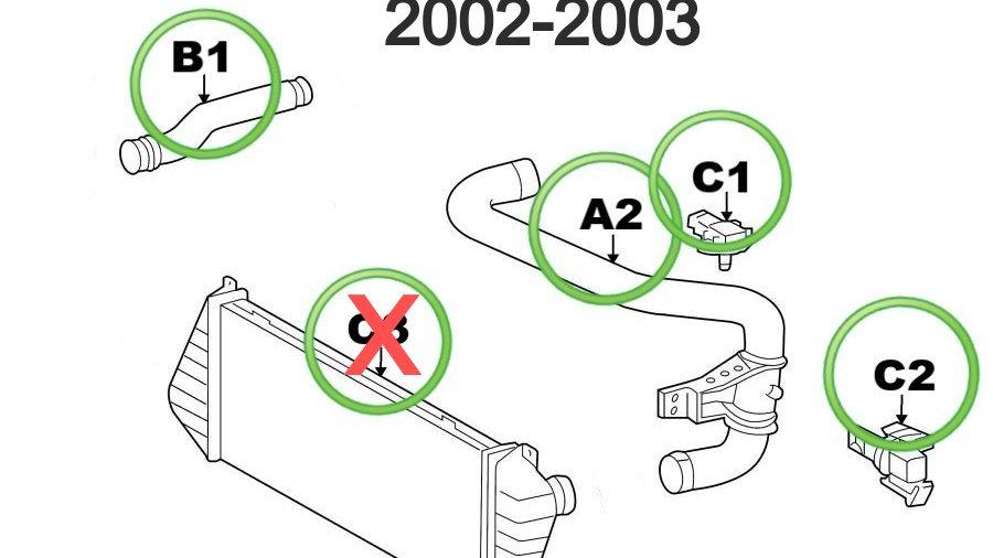 Turbo System Maintenance Kit, NO INTERCOOLER (2002-2003)