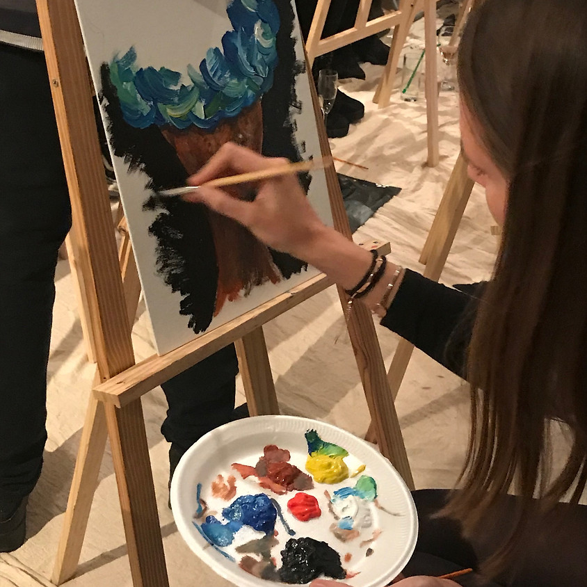 Paint & Prosecco Aspire Charity Event