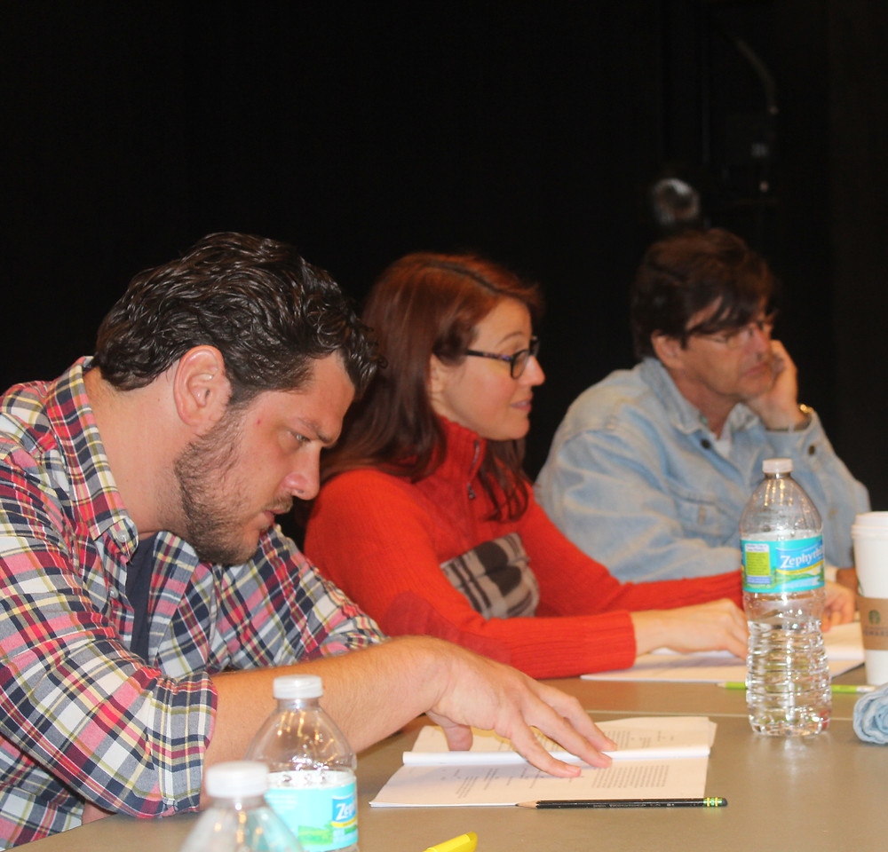 Actors Matthew Chizever, Elizabeth Price and Clinton Archambault